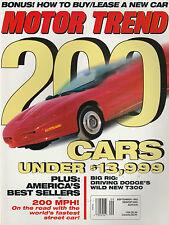 Motor Trend Sept 1993 - Ferrari 348tb  BMW 740iL - Bugatti EB110 - BMW 325i
