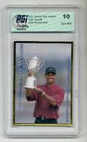 2001 SCI Tiger Woods PGI 10 Gold rookie card U.S. Open!