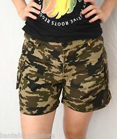 Damen Shorts Camouflage_Ladies shorts_Jah Army, Rasta Reggae Gr. L