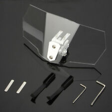 Motorcycle Adjustable Clip-On Windshield Extension Spoiler Windscreen For Yamaha