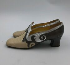 Rare Retro Glam Vtg Ladies Famous Barr Leather High Heal Shoes 7.5 Greek Made