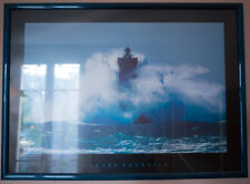 grand cadre photo mer phare breton dans la tourmente