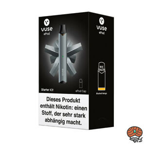 Vuse ePod Starter Kit Anthrazit E-Zigarette inkl. 1 Cap Blushed Mango 18 mg/ml