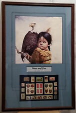 Brave & Free, By Gregory Perillo,  Framed Lithograph With Stamps Collection.
