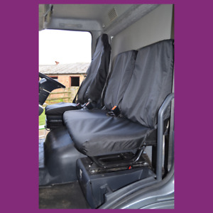 Iveco Euro Cargo 2008+ Tailored Waterproof Black Front 3 Seat Covers
