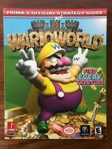 Nintendo GameCube • Wario World PRIMA Official Strategy Guide Book • Treasure