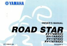 2008 Yamaha XV1700ASX Road Star Motorcycle Star Owners Manual : LIT-11626-21-68