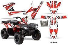 Polaris Sportsman 90 AMR Racing Graphic Wrap Kit Quad Part ATV Decals SLASH RED
