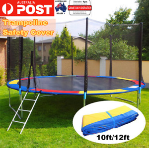 10ft/12ft Trampoline Mat Round Spring Cover Replacement Safety Top Heavy Duty