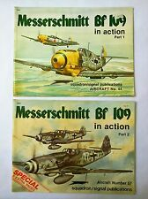 Messerschmitt Bf 109 in Action Part 1 and 2 -  Book 2, (8) extra pages.