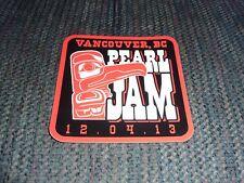 Pearl Jam - Vancouver, Bc - 12-04-13 / December 4, 2013 - Tour Sticker - Rare