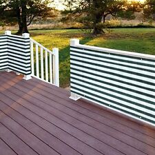 Flexible Outdoor Water Proof Two-Toned Privacy Deck Fence Screen
