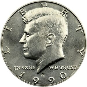 1990 D 50¢ Kennedy Half Dollar - GEM BU !!