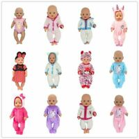 Doll Jump Suits Wear Fit For 43cm Zapf Baby Born Doll Reborn Clothes Dolls Set