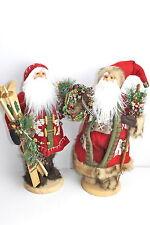 GISELA GRAHAM CHRISTMAS WOODLAND SANTA IN FUR BOOTS/COAT ORNAMENT