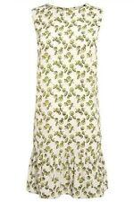 BN NEXT LADIES WHITEGREEN UMBRELLA PRINT SHIFT SUMMER DRESS TUNIC SIZE 8~16