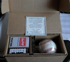 Hank Aaron 755 Home Runs COA Autographed RAWLINGS Official League Baseball