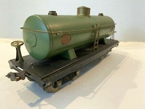 *1926* LIONEL LINES PREWAR TRAINS -GREEN NO. 215 OIL TANK CAR- STANDARD GAUGE VG