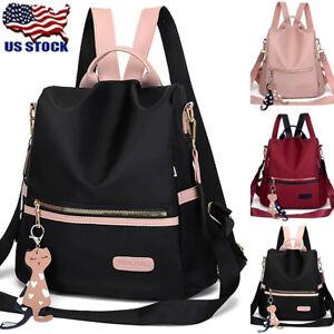 Lady Waterproof Anti-Theft Backpack Rucksack Handbag Travel Shoulder School Bag