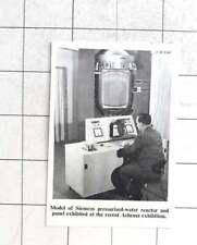 1958 Model Of Siemens Pressurised Water Reactor at Recent Achema Exhibition