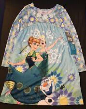 Disney Store Authentic Frozen Elsa Anna Dress Size 5/6 Free Frozen Brush & Cups