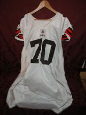2008 Cleveland Browns Game Used Jersey # 70 Rex Hadnot - Size 52