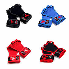 """WORKOUT GLOVES for plam 9.5cm/3.7"""" less 4 Types Fitness GYM Weight Lifting Grips"""