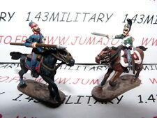 SOLDAT de plomb DEL PRADO 1/50 : AUSTERLITZ Napoléon : lot n°5 2 cavaliers