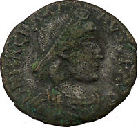 MAGNUS MAXIMUS with kneeling woman & Victory 383AD Ancient  Roman Coin   i35574