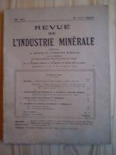 REVUE DE L'INDUSTRIE MINÉRALE N° 180 (1928) MINE / BASSIN DE BELMEZ/ ÉLECTRICITÉ