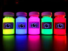 UV Fabric Paint Set Of Fluorescent Paints. Good 4 Clothing, Materials & T Shirts