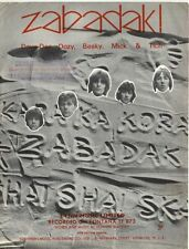 DAVE DEE,DOZY,BEAKY,MITCH & TICH - 60s Sheet Music - ZABADAK -By  H Blaikley