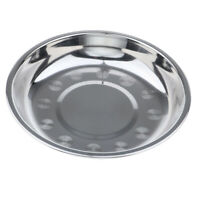 Stainless Steel Plate Camping Picnic Dish Food Snack Salad Meat Container