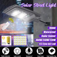 360W LED Solar Wall Street Light Radar Induction PIR Motion Sensor Outdoor Lamp