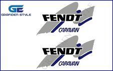 2 Stück  FENDT - CARAVAN - Wohnwagen Aufkleber - Sticker - B 50cm x H 28,5cm !!!