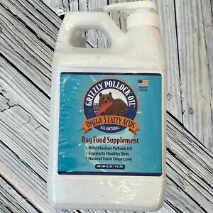 Grizzly Pollock Oil dog cat pet food supplement healthy skin coat omega 3 64 oz