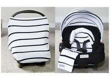 9958e1d1c WHOLE CABOODLE ~ BLACK STRIPES ~ by CarSeat Canopy 5pc JERSEY STRETCH