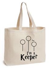 Sono un Keeper, Borsa per la vita Cotton Tote tela ECO fan di Harry Potter Art Book Bag