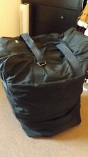 ARGE UPRIGHT 6 WHEELED PULL ALONG TRAVEL BAG EXPANDS COLLAPSIBLE BLACK