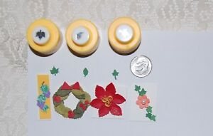 """Mini Size Punches Set Of 3 Most Popular Leaf Shapes Each 1/4"""" Discount Shipping"""