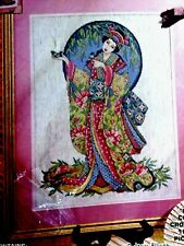 Feng Shui Counted Cross Stitch Kit Oriental Grace Joan Elliott Geisha 9890