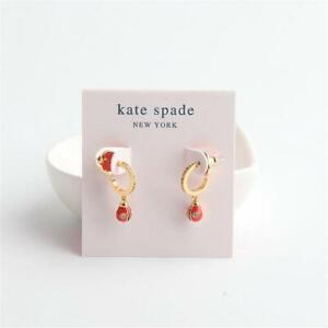 Kate Spade New York Nature Walk Ladybug Huggie Earrings