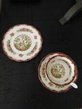 3 PIECE ROYAL ALBERT Chelsea Bird cup, saucer, plate    Excellent Condition
