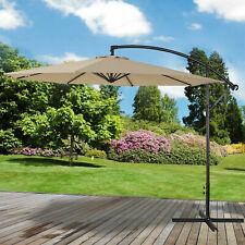 3m Overhanging Parasol Cantilever Garden Sun Shade Patio Banana Large Umbrella
