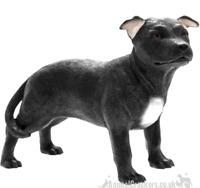 Black Staffordshire Bull Terrier Staffie Staffy ornament, Leonardo, gift boxed