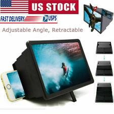 Folding Cell Phone 3D HD Screen Magnifier Video Amplifier Stand Bracket Holder.