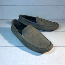 Johnston & Murphy Gibson Penny Loafer Deck Boat Driving Moc Shoes Suede 9M Taupe