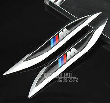 2pcs Top M POWER Auto car Aufkleber Emblem Fenders Schriftzug für Dolch Racing