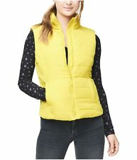 Aeropostale Womens Classic Quilted Vest, Yellow, Medium