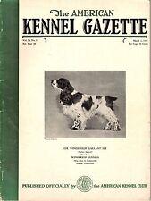 Vintage American Kennel Gazette March 1937 Cocker Spaniel Cover